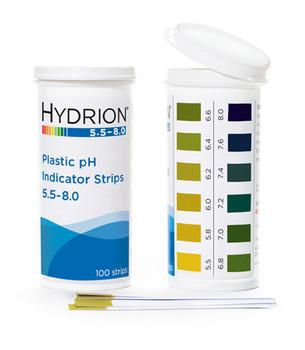 Hydrion (9700) 5.5-8.0 Plastic pH Strip