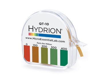 Hydrion (QT-10) Quat Test Paper 0-400 PPM - 15 ft/roll **FREE SHIPPING ITEM**