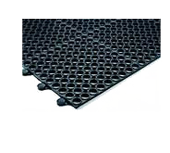 "JR - 7963 - Connecting Mats, 36"" X 36"" X 3/8"" Thick, Grease Resistant, Non-Slip, Rubber, BLA"