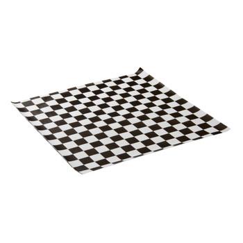 "PL - 12"" X 12"" Black Checker Paper - 1000/pack"