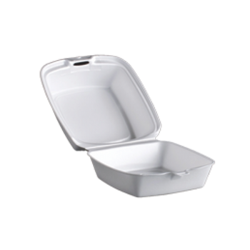 """Dart - 50HT1 - White 5"""" Foam Hinged Container 500/case"""