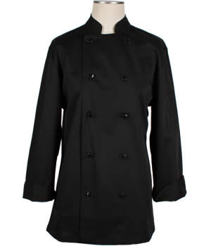 CI22139 Large - Bodyguard Black Chef Coat Large - Each