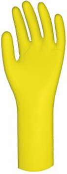 Ronco - 15-332-07 - Yellow Long Latex Gloves 15mil 12 Small 1x12 Pairs
