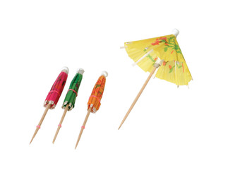 "JR - 4601 -Cocktail Parasol - 4"" Assorted Colors"