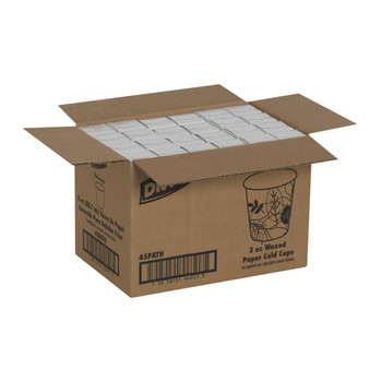 Dixie - 45PATH - Pathways 3 oz. Wax Treated Paper Cold Cups - 2400/Case