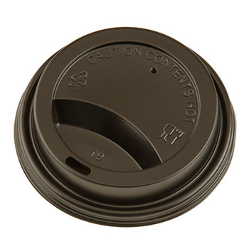 Genpak - 14HLDL-BR - Brown Dome Sip Lid fits Genpak 10HDS, HD330, HD425, 20H600 Cups - 1000/Case