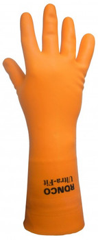 """Ronco - 15-872-09 - Large Ultra-Fit 33 Mil Latex Gloves, Flocklined 12"""" - 6 Pair/Pack"""