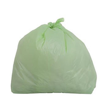 """Amber - GBCP1717 - 17"""" x 17"""" Compostable Garbage Bags / Trash Liners  - 500/case"""