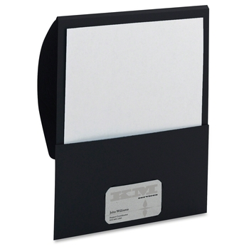 "Smead Organized Up™ Stackit™ File Folder 87913 - Letter - 8 1/2"" Width x 11"" Length Sheet Size - 100 Sheet Capacity - Black"