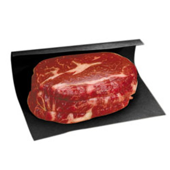 "Amber - 9""X29"" - Black Steak Paper Sheet - 1000/Pack"