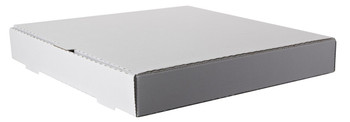 "Amber - 18"" x 18"" Plain White Pizza Box - 50/Case"