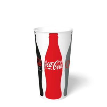 International Paper - DMR-22 - 22 oz Coca Cola Print II, 22 oz Cold Paper Cups - 1000/cs