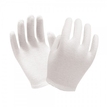 Ronco - 65-115 - Mens - Cotton Inspection Bleached Gloves White - 12 Pair/Pack