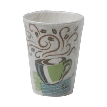 Dixie - 5338CDWR - PerfecTouch - 8 oz Insulated Hot Paper Cup Individually Wrapped - 1000/Case
