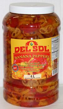 Delsol - Banana Peppers Sliced Jar 4 x 1 Gal