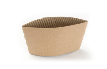 Morning Dew 10J-Kraft - Kraft Paper Sleeve fits 10 - 20oz tall cups - 1000/Case (Touch - 20-951 replacement)