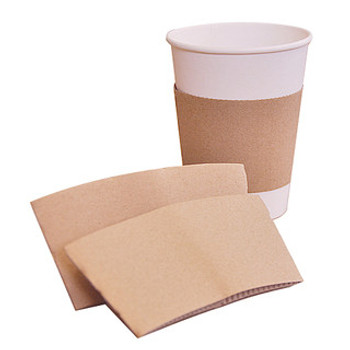 Morning Dew 8J-Kraft - Kraft Paper Sleeve for 8 oz Tall Cups - 1000/Case (Touch - 20-950 replacement)