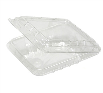 Pactiv 4.4 OZ Blueberry Plastic Clamshell Vented Container 576/Case