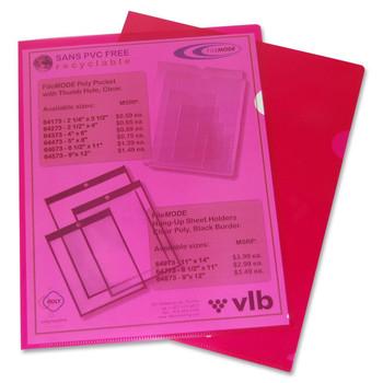 "VLB Poly View Folder - Letter - 8 1/2"" Width x 11"" Length Sheet Size - Polypropylene - Red - 10 / Pack"