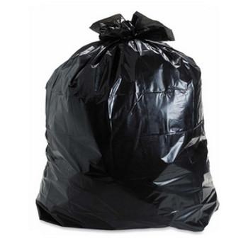 "Amber 35"" X 50"" 3 Mil Black Garbage Bag - Individually Folded - Dispenser Box - 75/Case"