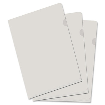 """Filemode Poly View Folder - Tabloid - 11"""" Width x 17"""" Length Sheet Size - Poly - Clear - 10 / Pack"""