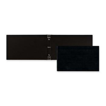 "Blueline Check Book Binder - 1"" Binder Capacity - 13"" Width x 7 1/4"" Length Sheet Size - 3 x Ring Fastener - Black - 1 / Each"