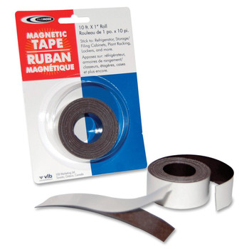 "Filemode Platinum Peel-N-Stick Magnetic Tape - 1"" (25.4 mm) Width x 10 ft (3 m) Length - Polypropylene - Permanent Adhesive - 1 / Roll"
