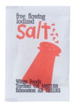 Wing's - Food Salt Portion Envelopes 1m x 6