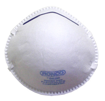 Ronco - Regular Style Particulate Respirators (White) 12x20