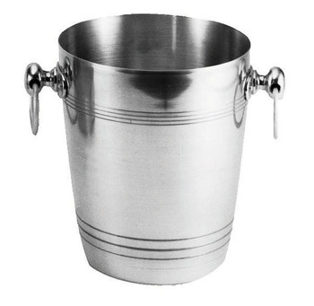 "JR - 7885 - Champagne/Wine Bucket - 7.75"" x 8.75"" Polished Aluminium"