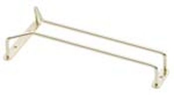 "JR - 4524 - Glass Hanger Rack - 24"" Brass Plated"