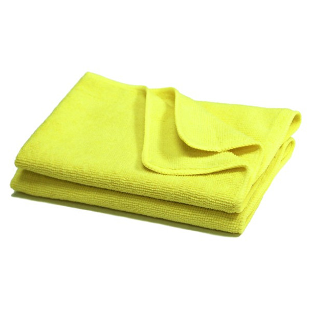 Amber - 14 x 14 Yellow - Micro Fibre Cloth - 10/Pack