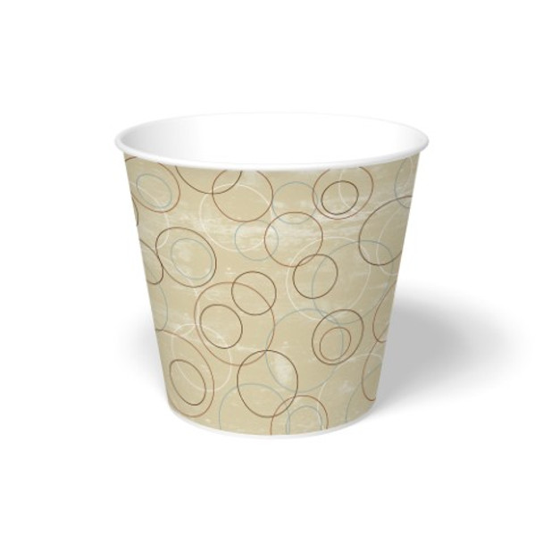 International Paper - DFM-170 - 170 oz Champagne Print, Paper Food Bucket - 100/cs