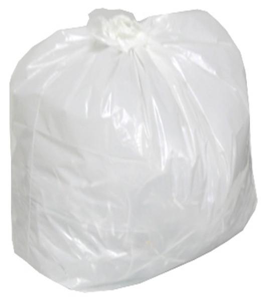 AMBER 20 x 22 Regular White Garbage Bags 500/cs