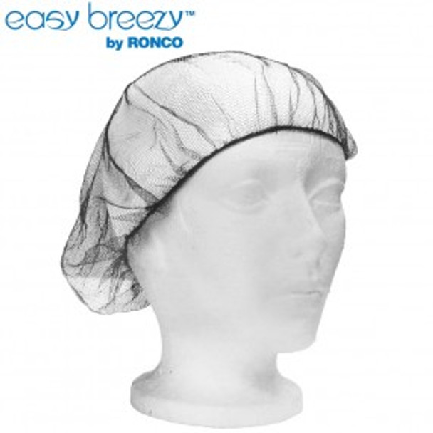 """Ronco 1818BR - 21"""" Brown Hairnets Polyester Mesh 1x100"""