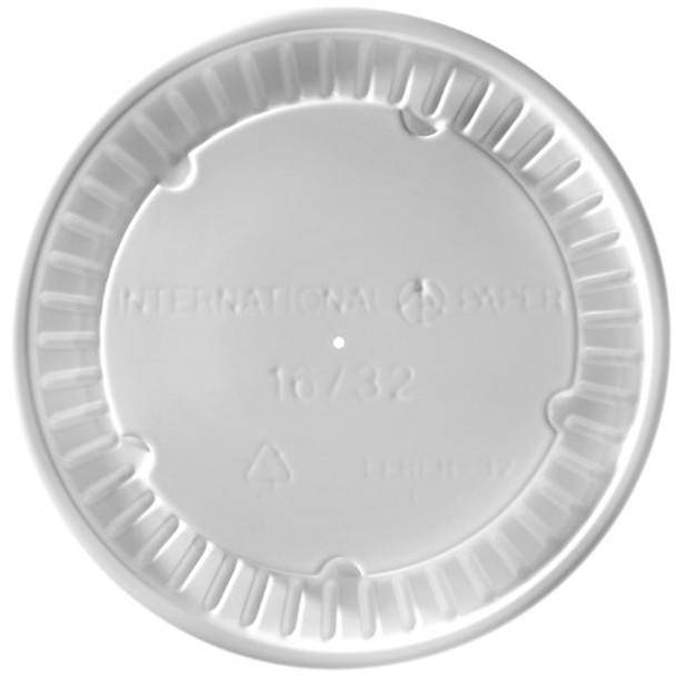 International Paper - LFRFH-32 - Flat White Vented Lid - 500/cs