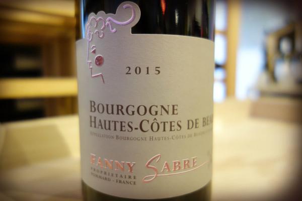 Fanny Sabre, Bourgogne Hautes-Côtes de Beaune Rouge (2015)