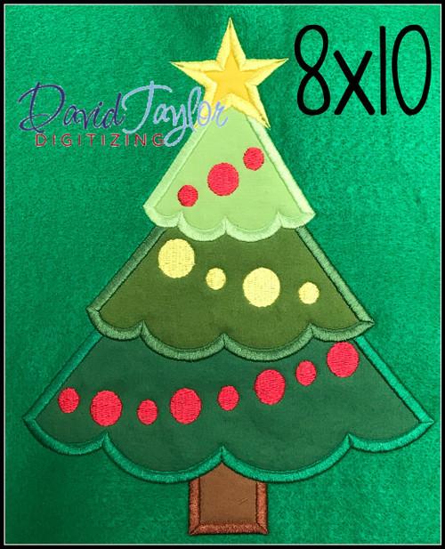 free christmas tree machine applique embroidery design - Free Christmas Tree
