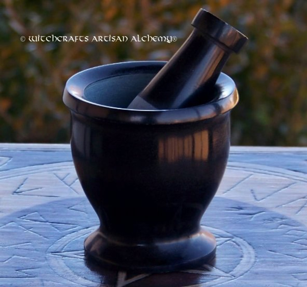 ABYSS Black Soapstone Mortar & Pestle