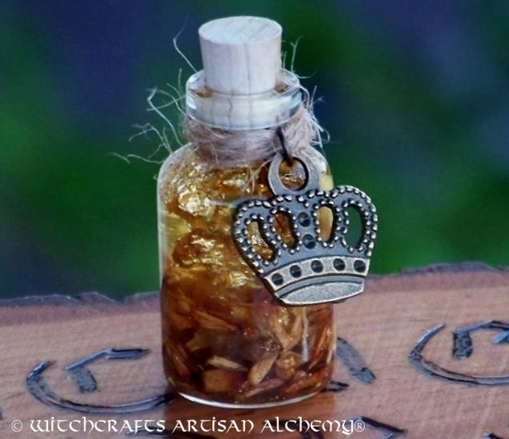 "Charmed GOLDFINGERS ""Alchemist's Gold"" Crown of Success Artisan Alchemist Ritual Oil"
