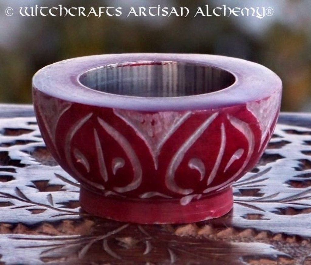 SACRED FIRE Red Stone Cone or Tealight Burner