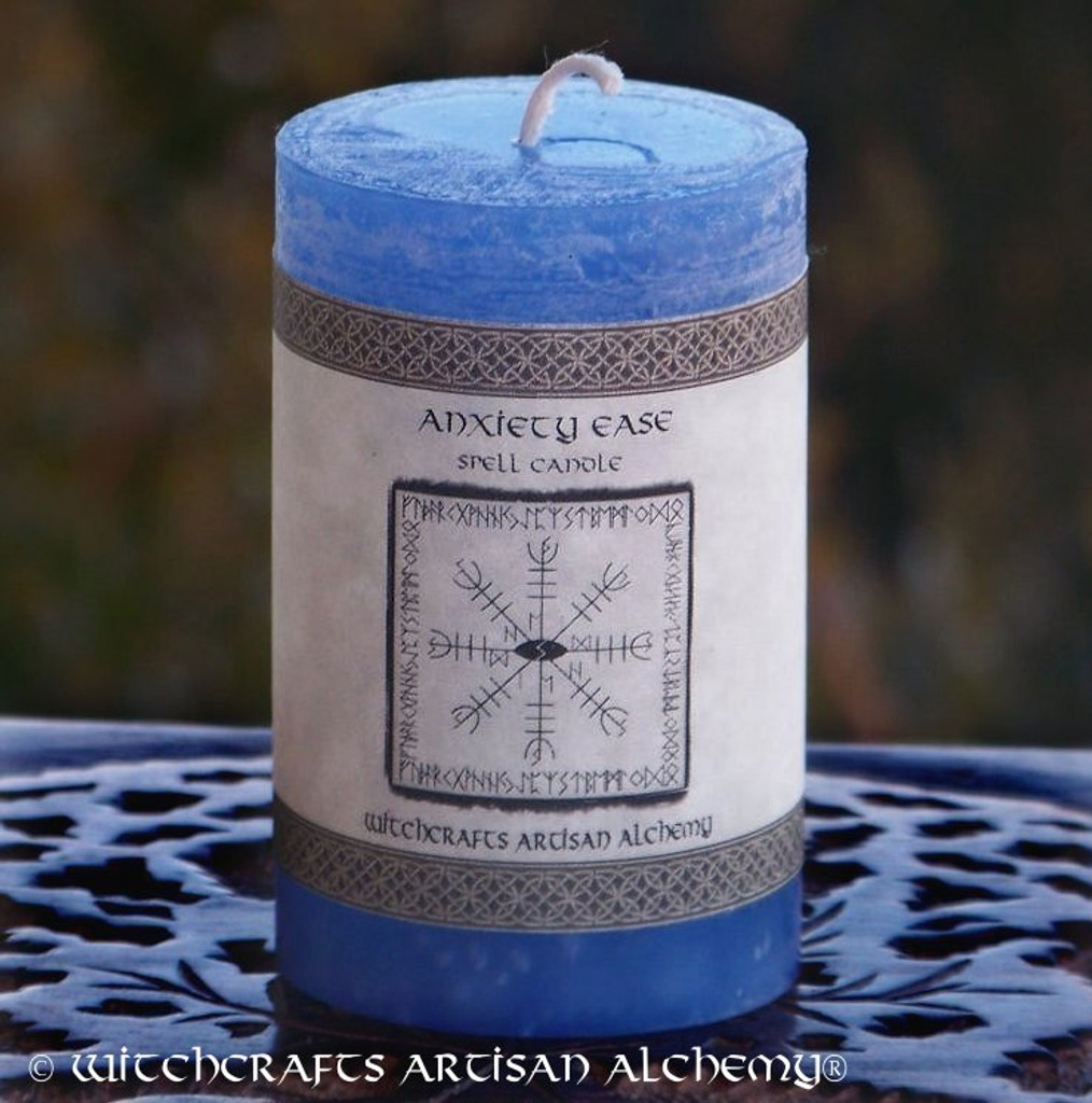 ANXIETY EASE Signature Spell Candle by Witchcrafts Artisan Alchemy