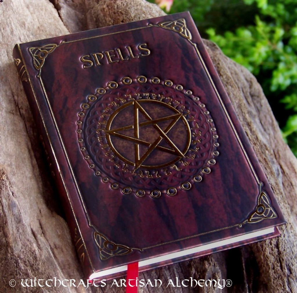 SPELLS Red and Gold Pentacle Spell Journal