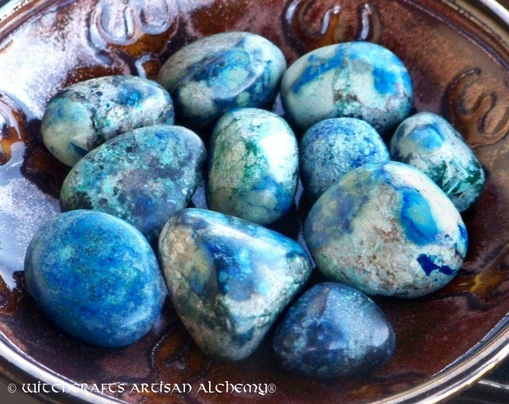 AZURITE MALACHITE Natural Fusion Tumbled Gemstone