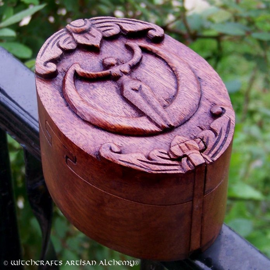 MOON GODDESS Wood Puzzle Box