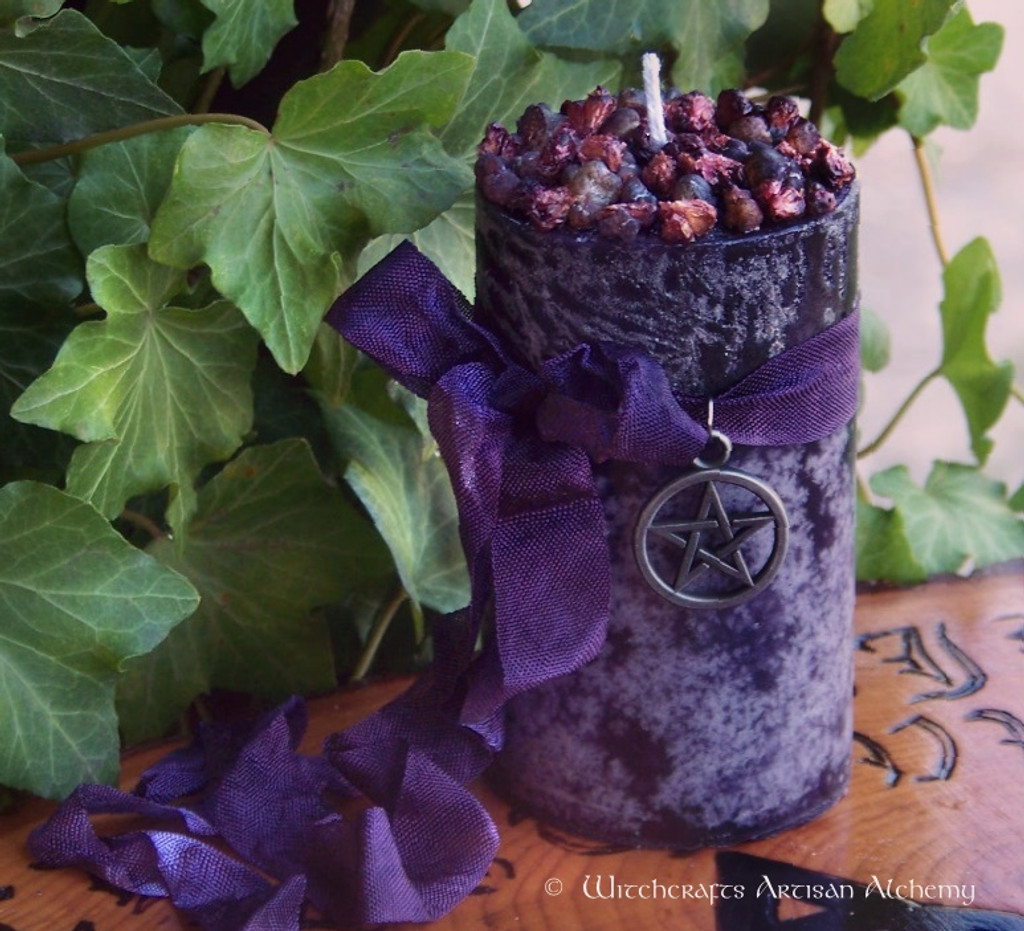 "WITCHBERRY ""Old European Witchcraft"" Pillar Candle"