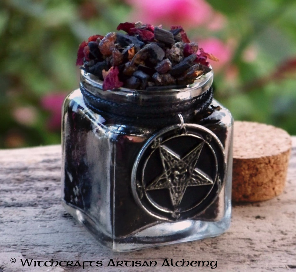 "OCCULT VENEFICUS ""Old European Witchcraft"" Dark Sorcery Chthonic Incense w/ Baphomet"