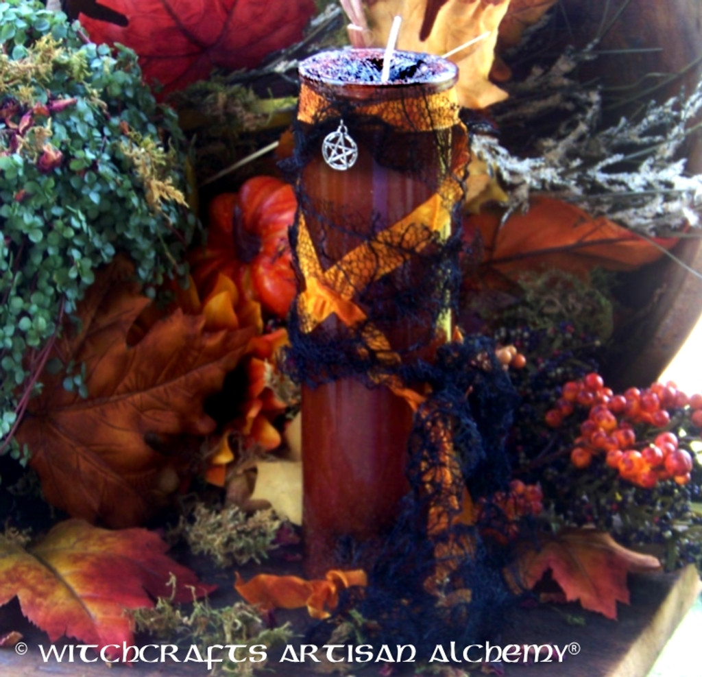"SAMHAIN ""Old European Witchcraft"" Elegantly Witchy Vigil Jar Candle"
