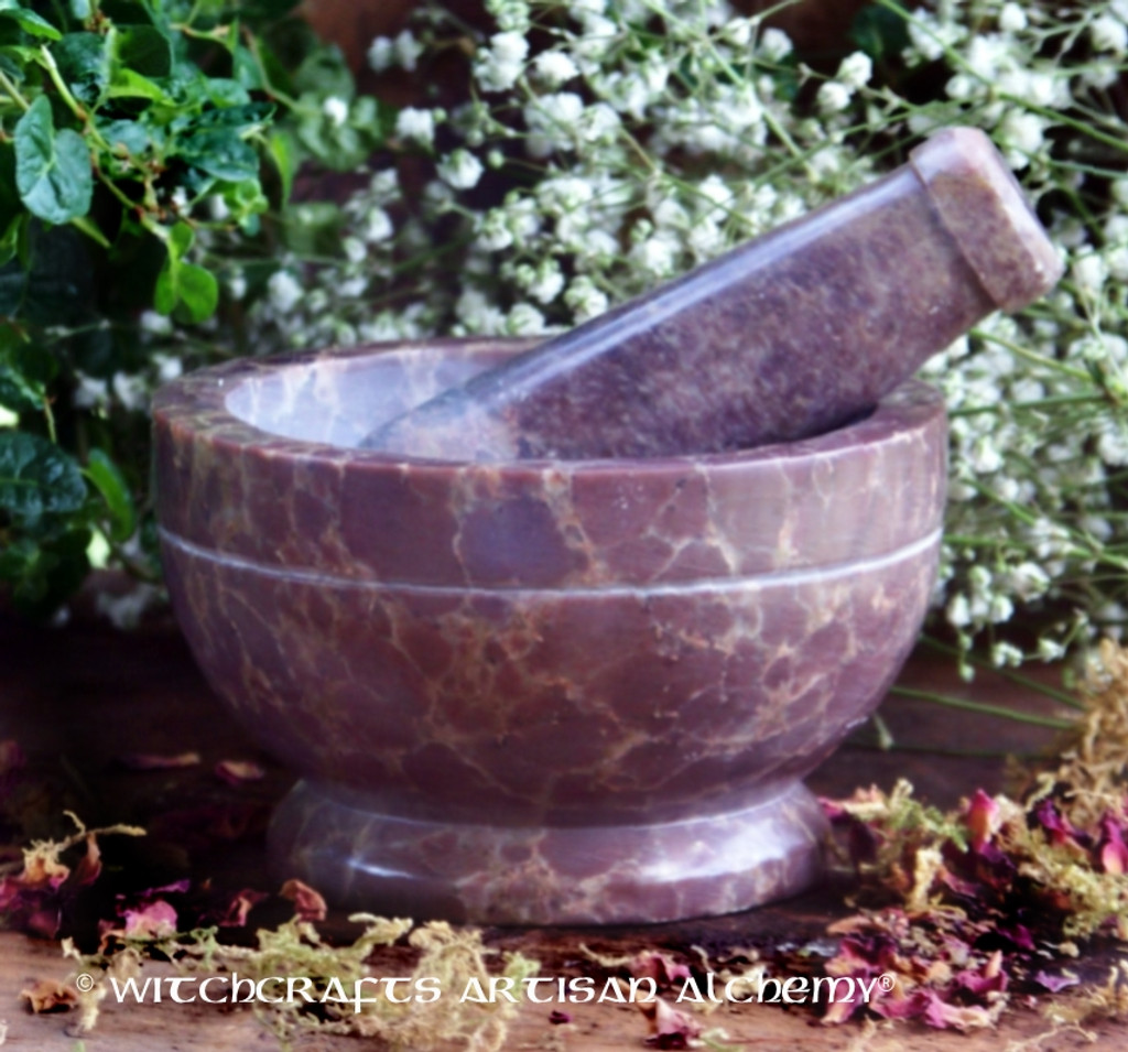 NATURAL MAGIC Banded Soaptone Mortar and Pestle