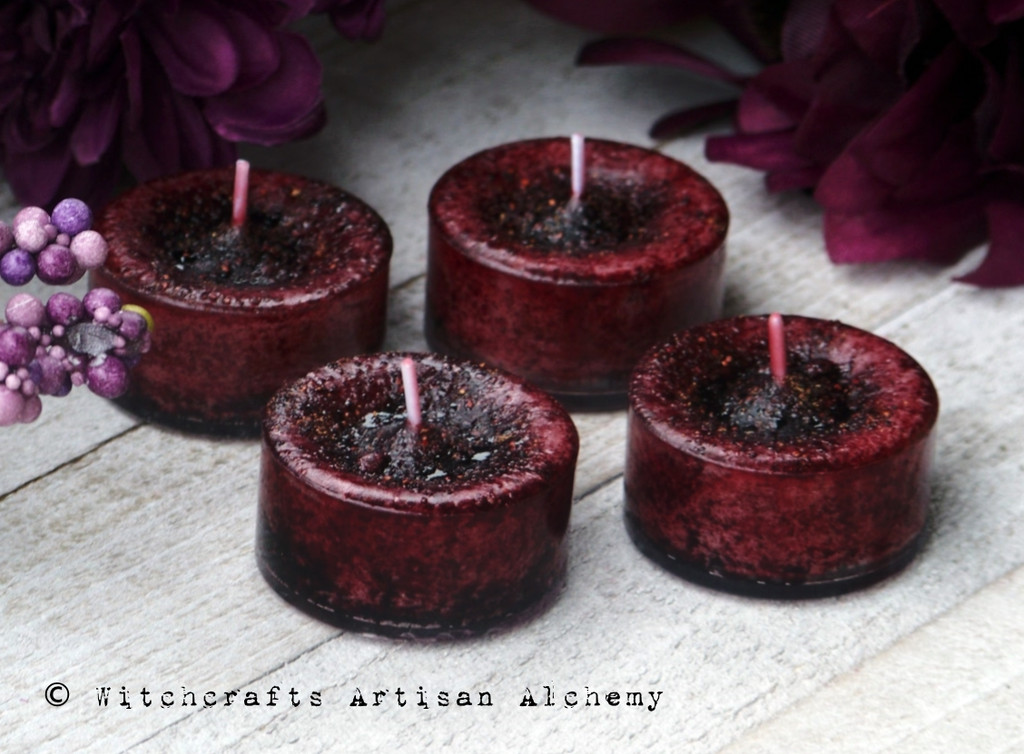 SPICED POMEGRANATE Artisan Tealight Candles
